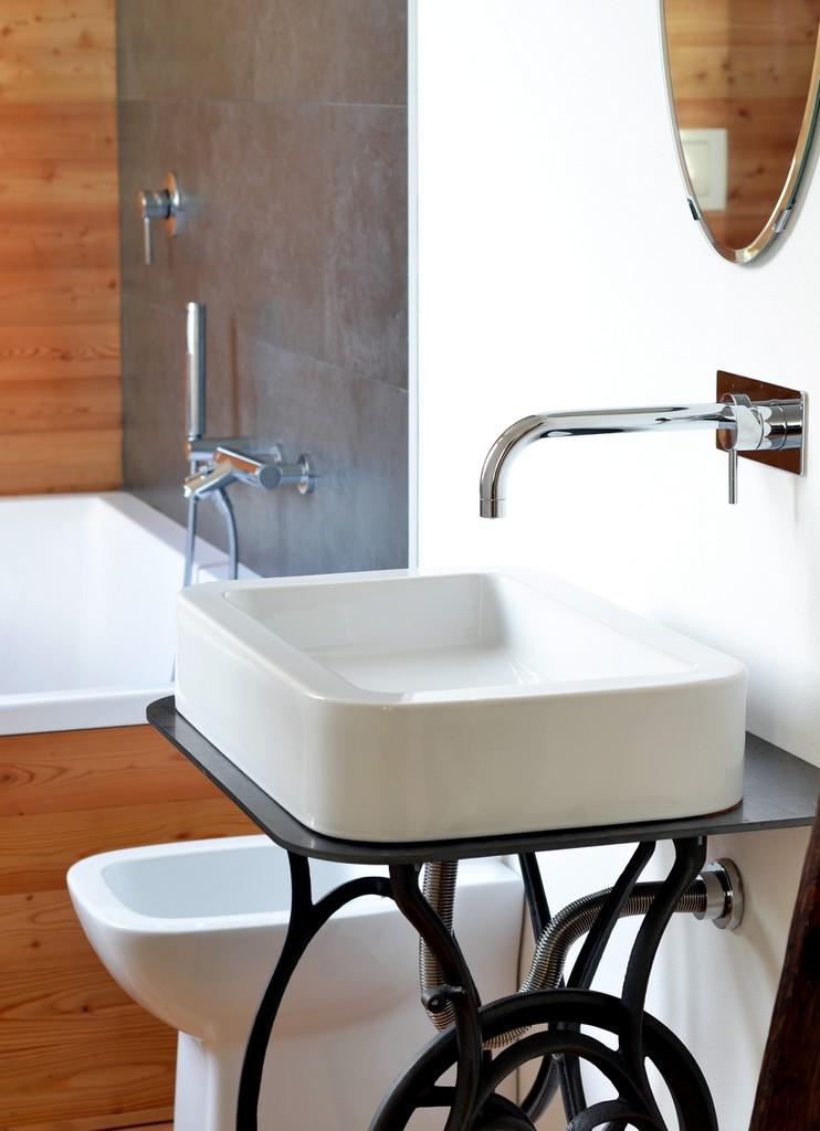 bathroom white wood