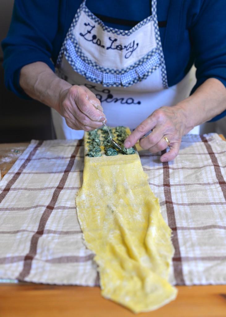 spinaci ravioli